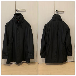 アオヤマ(青山)の美品 洋服の青山 AOYAMA スーツ用 コート  ブラック RITORNO(トレンチコート)
