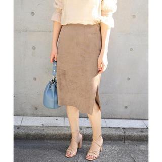 ノーブル(Noble)のSpick and Span Noble フェイクスウェードタイトスカート2(ひざ丈スカート)