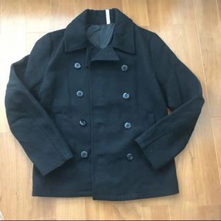 ナルヴィック(NARVI'K)の年内お値下げ NARVI'K ナルヴィック黒Pコート ショート丈 Lサイズ(ピーコート)
