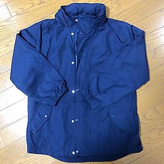 ジーユー(GU)のGU  キッズジャンパー  150cm  ネイビー  美品(ジャケット/上着)