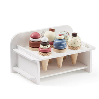 コドモビームス(こどもビームス)の新品✦Kids Concept 木製アイスクリーム&スタンド セット(知育玩具)
