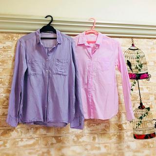 ジーユー(GU)の2点セット  リネンシャツ&コットンシャツ(シャツ/ブラウス(長袖/七分))
