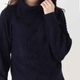 インデックス(INDEX)のインデックス 今期 2018  紺 ネイビー ニット Lサイズ 12月購入(ニット/セーター)