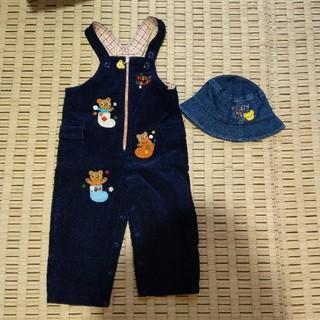 ミキハウス(mikihouse)のミキハウス オーバーオール90 帽子48 セット(その他)