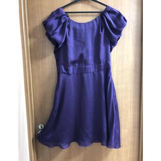 ビーシービージーマックスアズリア(BCBGMAXAZRIA)の最終お値下げ!BCBGeneration 紫ドレス/ワンピース(ミニワンピース)