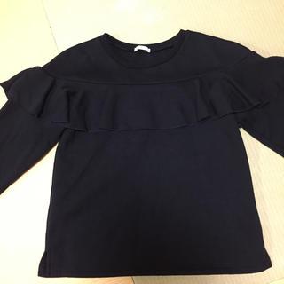 ジーユー(GU)のGU フリルスウェット(Tシャツ/カットソー)