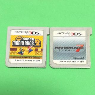 ニンテンドー3DS(ニンテンドー3DS)のNEWスーパーマリオブラザーズ2とマリオカート7(携帯用ゲームソフト)