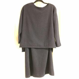 ショコラフィネローブ(chocol raffine robe)の【※tabibito-umi様専用】ネイビー セットアップ(セット/コーデ)