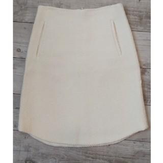 デプレ(DES PRES)のDES PRES 白スカート(ひざ丈スカート)