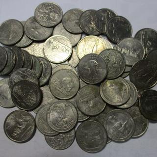 難あり アメリカ記念硬貨55枚セット 25セント 外国コイン(貨幣)