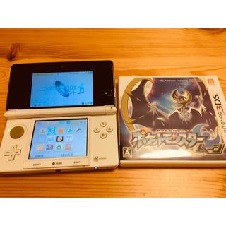 ニンテンドー3DS(ニンテンドー3DS)の3DS本体+ポケモンムーン(携帯用ゲーム本体)