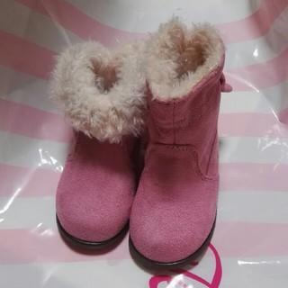 シャーリーテンプル(Shirley Temple)の新品 シャーリーテンプル リボンボア ブーツ ピンク 14 (ブーツ)