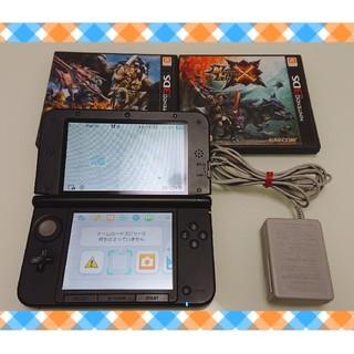 ニンテンドー3DS(ニンテンドー3DS)のNewニンテンドー3DS LL +モンハンゲームソフト2本セット(携帯用ゲーム本体)