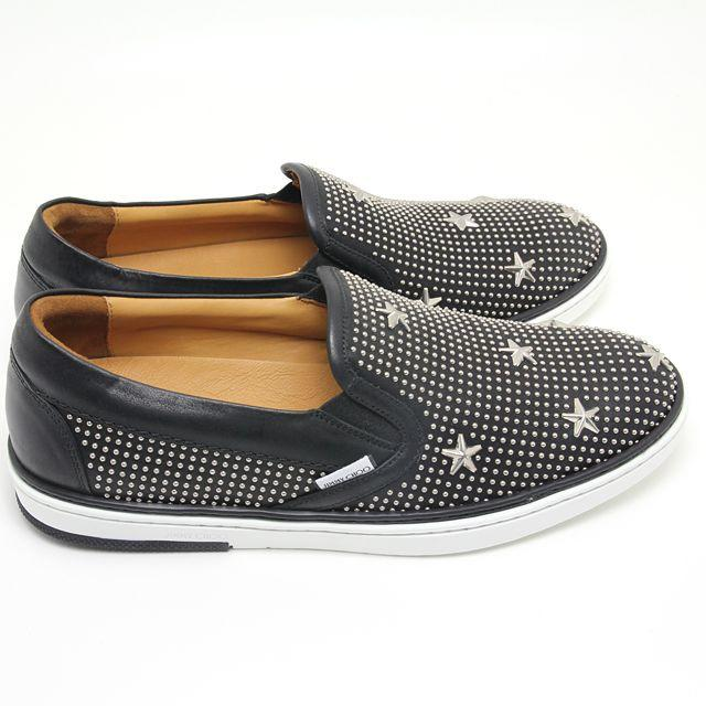 JIMMY CHOO(ジミーチュウ)の新品 ジミーチュウ スタースタッズ スリッポン グローブ SXX141 40 メンズの靴/シューズ(スリッポン/モカシン)の商品写真