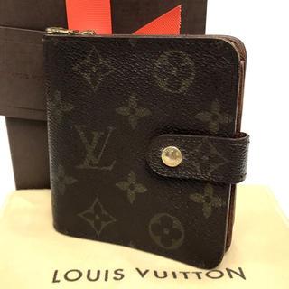 ルイヴィトン(LOUIS VUITTON)のルイヴィトン モノグラム コンパクトジップ 財布 折り財布 かわいい おすすめ(財布)