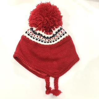 コムサイズム(COMME CA ISM)のほぼ未使用品!コムサイズム 赤ちゃん用ニット帽(帽子)