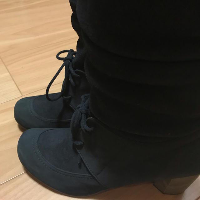 BARCLAY(バークレー)のBARCLAY FOOTART ブーツ スエード 本革 ブラック レディースの靴/シューズ(ブーツ)の商品写真