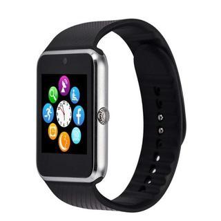 【高速発送】スマートウォッチ シルバー アップル好きにもおすすめ【送料無料】(腕時計(デジタル))