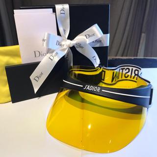 クリスチャンディオール(Christian Dior)のクリスチャンディオール  サンバイザー ハット 未使用新品 箱付き(サンバイザー)
