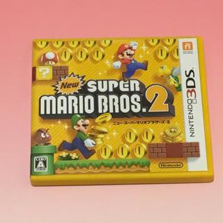 ニンテンドー3DS(ニンテンドー3DS)の【美品3DS】ニュースーパーマリオブラザーズ2(携帯用ゲームソフト)