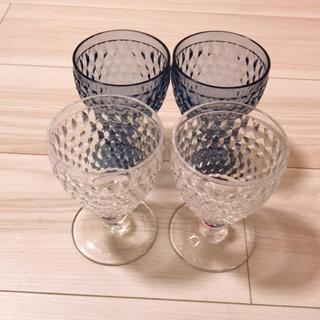 ビレロイアンドボッホ(ビレロイ&ボッホ)のビレロイ&ボッホ    ボストン ワイングラス 4個 美品(グラス/カップ)