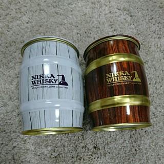 ニッカウイスキー(ニッカウヰスキー)の余市蒸留場 ニッカウイスキー 樽型 空き缶(ウイスキー)