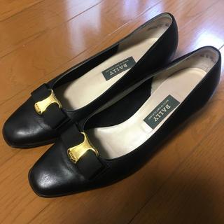 バリー(Bally)のバリー ブラック 牛革 パンプス 靴 24.0 23.5(ハイヒール/パンプス)