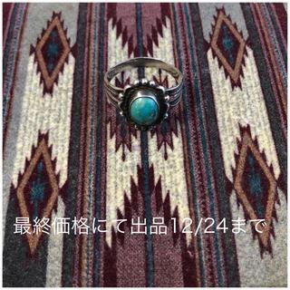 超希少&美品!ナバホ ビンテージターコイズシルバーリング 刻印 NAVAJO 6(リング(指輪))