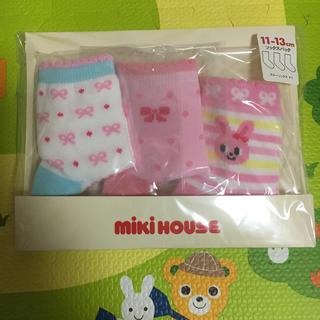 ミキハウス(mikihouse)のむむ様専用 新品 ミキハウス 二セットまとめ買い(靴下/タイツ)