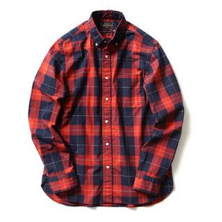 ビームス(BEAMS)のBEAMS PLUS チェックシャツ レッド ネイビー ネルシャツ(シャツ)