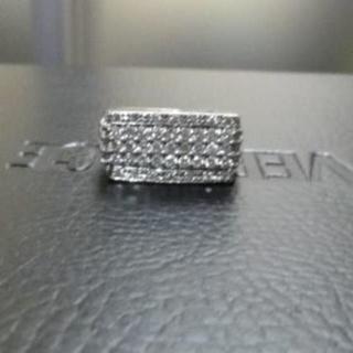値下げ  K14 ホワイトゴールド ダイヤ1.13ct リング ピンキー WG (リング(指輪))