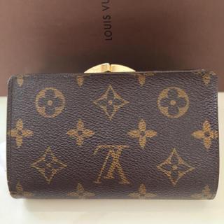 ルイヴィトン(LOUIS VUITTON)の正規品ルイヴィトンがま口折り財布(財布)