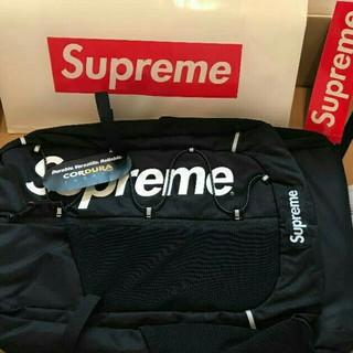 シュプリーム(Supreme)の17ss Supreme backpack シュプリーム 黒 リュック (バッグパック/リュック)