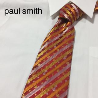 ポールスミス(Paul Smith)のPaul Smith ポールスミス 高級シルク ネクタイ レジメンタル(ネクタイ)