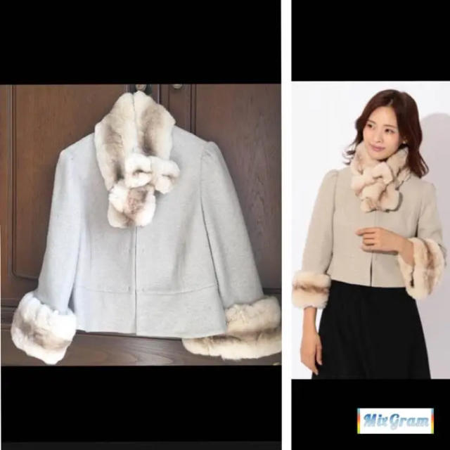 TO BE CHIC(トゥービーシック)の【専用】トゥビーシック 大きいサイズ♡ファーボレロ コート レディースのジャケット/アウター(毛皮/ファーコート)の商品写真