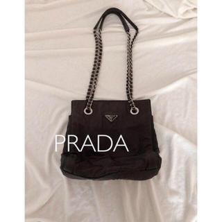 fc7aebab8095 プラダ(PRADA)のPRADA定番 チェーンハンドナイロンショルダーバッグ(ショルダーバッグ)
