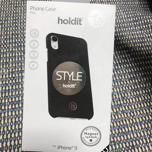 iPhoneXRケース holdit 北欧ブランド ブラックの通販 by まつり's shop|ラクマ