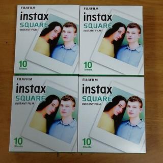 フジフイルム(富士フイルム)のinstax square film チェキ スクエア フィルム 40枚(フィルムカメラ)