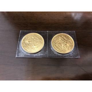 天皇陛下御在位60年記念 10万円金貨 2枚 ②(貨幣)