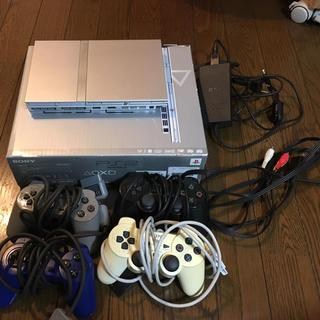 プレイステーション2(PlayStation2)のPS2シルバー薄型➕ソフト13本セット(家庭用ゲーム本体)