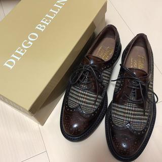 ディエゴベリーニ(DIEGO BELLINI)のチェック柄ローファー(ローファー/革靴)