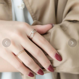 フィービィー(phoebe)のフィービィー クロスノットメタルリング(リング(指輪))
