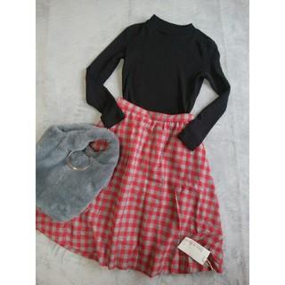 サロンドバルコニー(Salon de Balcony)の新品サロンドバルコニーのチェックウールスカート(ひざ丈スカート)