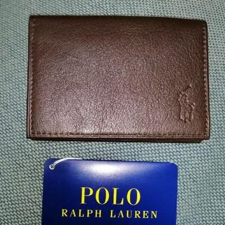 ポロラルフローレン(POLO RALPH LAUREN)のポロラルフローレン 名刺入れ ブラウン(名刺入れ/定期入れ)