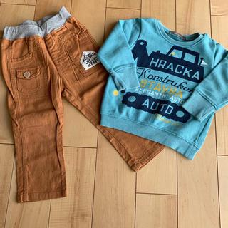 ニコフラート(nicohrat)のお値下げ♪ニコフラート 90cmセット トレーナー、パンツ(Tシャツ/カットソー)
