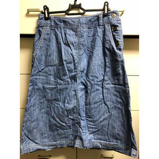 アルファキュービック(ALPHA CUBIC)のアルファキュービック 台形 スカート デニム(ひざ丈スカート)