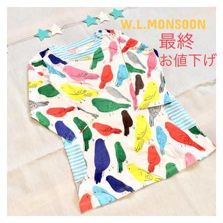 新品*4T(100cm)*W.L.Monsoon*鳥柄チュニック(ワンピース)
