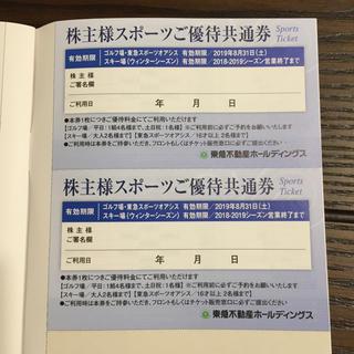東急不動産 株主優待券 スポーツご優待共通券4枚(フィットネスクラブ)