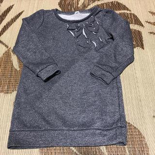 ジーユー(GU)のラメ トレーナー 120 女の子(Tシャツ/カットソー)
