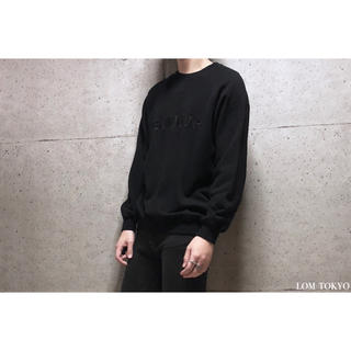 [used]black embroidery raglan sweat.(スウェット)